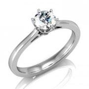 Кольцо с бриллиантами на заказ. Форма 001. Аукцион бриллиантов DGTS.RU.