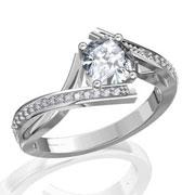 Кольцо с бриллиантами на заказ. Форма 003. Аукцион бриллиантов DGTS.RU.