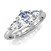 Кольцо с бриллиантами на заказ. Форма 005. Аукцион бриллиантов DGTS.RU.