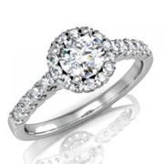 Кольцо с бриллиантами на заказ. Форма 006. Аукцион бриллиантов DGTS.RU.