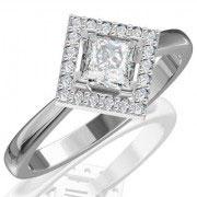 Кольцо с бриллиантами на заказ. Форма 007. Аукцион бриллиантов DGTS.RU.