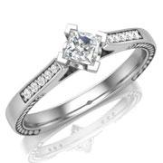Кольцо с бриллиантами на заказ. Форма 012. Аукцион бриллиантов DGTS.RU.